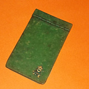 Rare Bakelite Halloween Witch  Green Miniature Child's Notebook Notepad Estate Book Deco Era