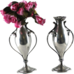 Pair Antique Sterling Silver Bud Vases � Howard � C 1890