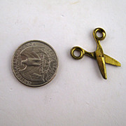 Miniature Brass Scissors � Victorian
