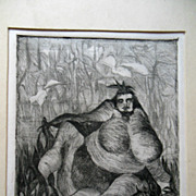 Original Modern Art Etching Jakob Rudolf Schellenberg 2/10