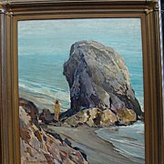 Frederick W. Becker-Rock at China Beach-24x20 oil