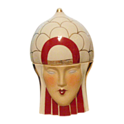 Robj Ceramic Bon bonnier Jar-Woman's Stylized head