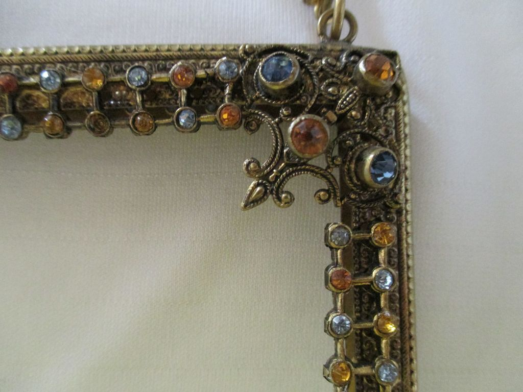 Jeweled Vanity Lights : Antique Jeweled Purse Frame from vanitylady on Ruby Lane
