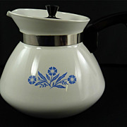 Corning Ware 6 Cup Teapot, Blue Cornflower