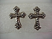 Sterling Cross Pierced  Post Earring