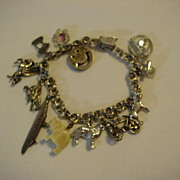 Dynasty Sterling Silver Charm Bracelet & 12 Unique Charms 1 Moves