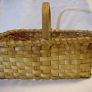 Old Hand Made Deep Gathering Basket