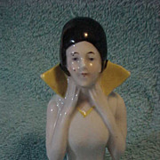 Pin Cushion Doll Half Doll MI Germany Flapper High Collar 3 1/2 &quot; Stunning