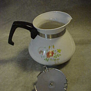 Corning Ware WILDFLOWER Teapot Tea Pot Kettle 6 cup