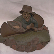 Tom Clark Gnome - Retired - 1985 &quot;WALT&quot; The Fisher Man Angler
