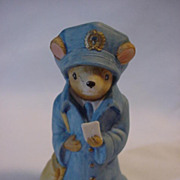 Lefton Mail man Mouse w\ Letter Hand Painted 00327 Rare