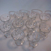 10 Heisey Colonial Sherbets Glasses all Excellent