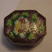8 Sided Stunning CLOISONNE Pill Box MI Beijing China