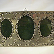 Old Tin Pitcher Frame Table Top or Hang Ornate
