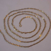 "Super Nice Extra Long Open Box Chain 52 "" Golden Color"