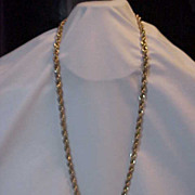 Vintage Judy Lee Twisted Triple  Chain Very long necklace 38 ""