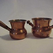 Arts & Crafts Denmark SPV Signed Copper Creamer Sugar