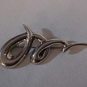 Sterling Silver Thailand Large Pin   Brooch
