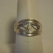 Sterling Silver Ring size 6 Pierced Design