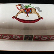 SOLD Charlton Hall Holiday China Covered Butter Dish