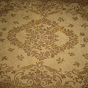 SALE Rare 1920's Chenille Rug-Mauve, Moss Multi Green, Rust, Light Brown & Beige-Paris Apt. Ch