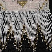 Made in France 30�s Seed Pearl & Steel Beaded Purse with Beaded Fringe