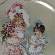 Maud Humphrey �Playing Bridesmaid� Porcelain Collector Plate-1989-The Hamilton Collection