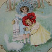 Maud Humphrey �Kitty's Bath� Porcelain Collector Plate-1990-The Hamilton Collection