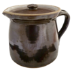 Vintage batter pitcher pancakes maple syrup covered brown glaze