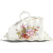 Antique porcelain cheese dish floral d�cor Germany