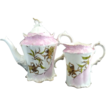 RS Prussia Steeple porcelain tea set pink coin gold florals