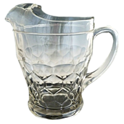 Antique glass lemonade pitcher Boston Sandwich Honeycomb c. 1870s