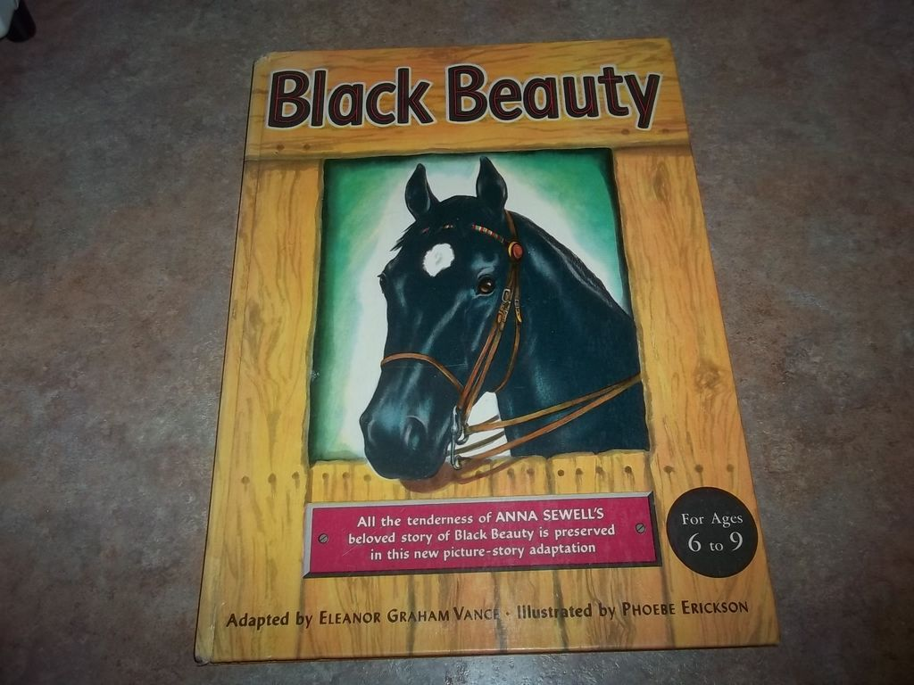 Black Beauty Book Cover : Hard cover children s book black beauty c horse from