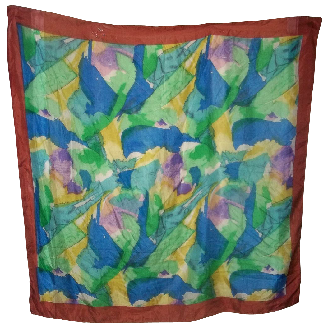 A splash of colors 100 reine seide silk scarf large from for L furniture warehouse victoria bc