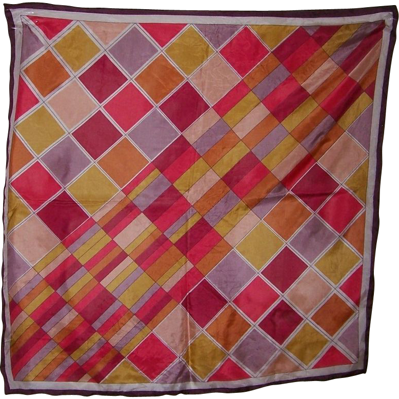 Vintage colorful triangle brand geometric silk scarf from for L furniture warehouse victoria bc