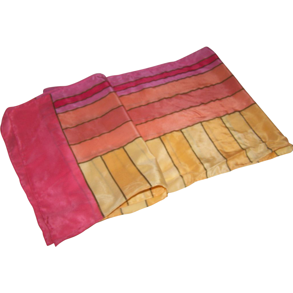 Pretty geometric patterned ladies silk scarf from for L furniture warehouse victoria bc