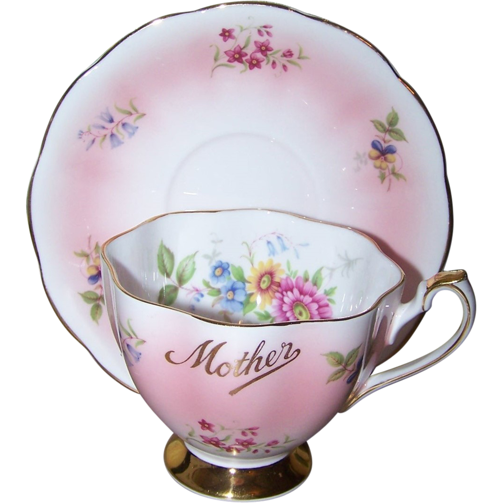 Souvenir sentimental mother tea cup saucer set queen anne for L furniture warehouse victoria bc