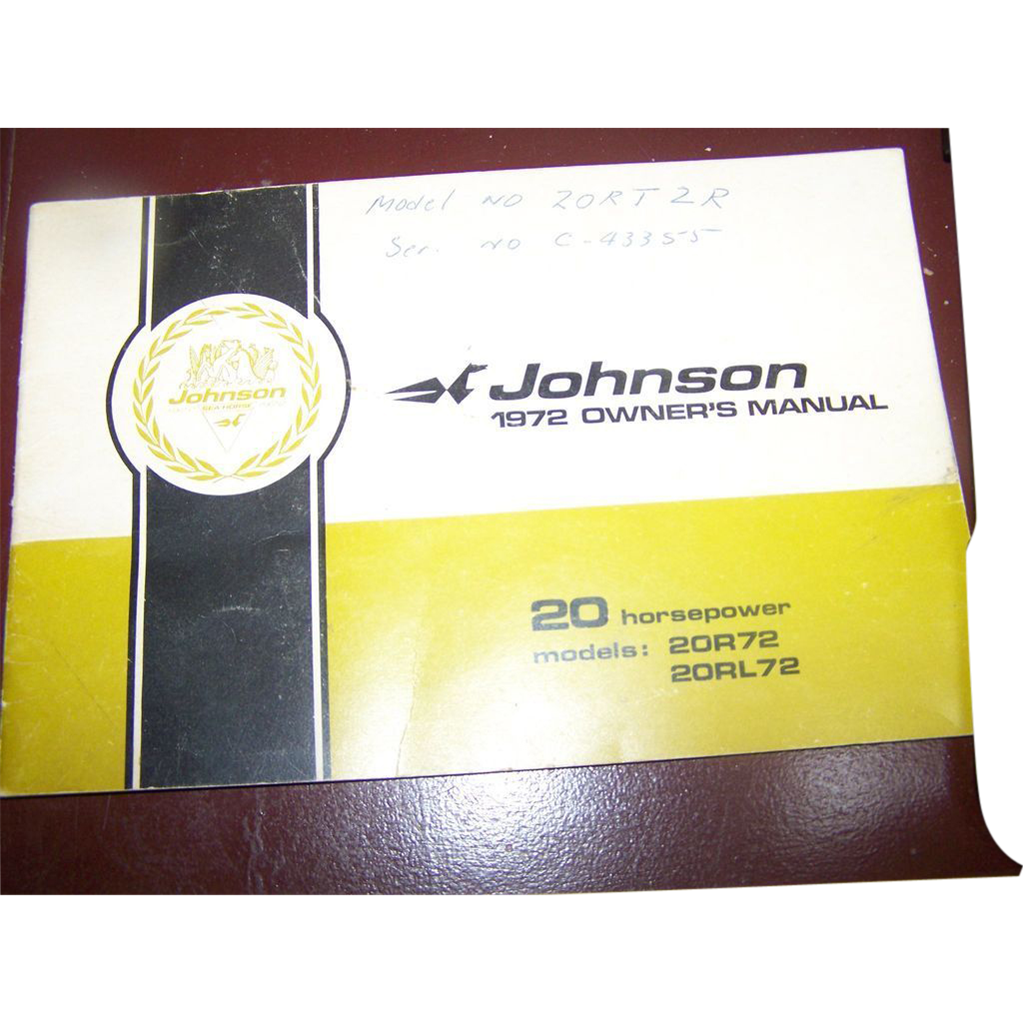 L Furniture Warehouse Victoria Bc Of Johnson 1972 Owner 39 S Manual Booklet 20 Horsepower From