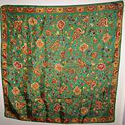Very Pretty Vintage Scarf With A Paisley Pattern