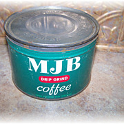 Vintage Collectible Advertising Coffee Tin Can  MJB
