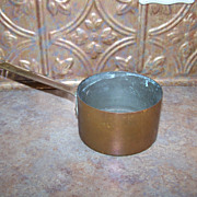 Vintage Copper Sauce Pan Great For Display