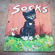 "Vintage Children's Book "" Socks"" Little Kitten C. 1949"