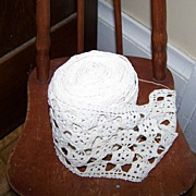 A Beautiful Roll of Vintage Crocheted Lace