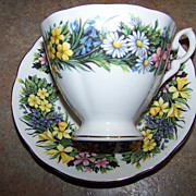 Mixed Floral Motif Royal Standard Vintage Tea Cup & Saucer