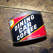 Vintage  Advertising  Tin Metal  Can Dining Car Coffee