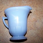 Pretty Blue Delphite Pyrex Glass Creamer