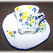 SALE Floral Motif Tea Cup & Saucer Sutherland  China Made In England