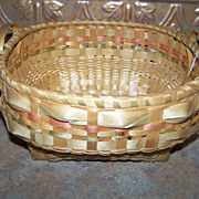 Vintage Mic Mac Native Indian Hand Woven Basket