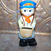 SALE Vintage Ceramic Novelty Figural Toothbrush Holder MIJ