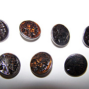 Lot 7   Metal Elan  Indian Head Liberty  Buttons